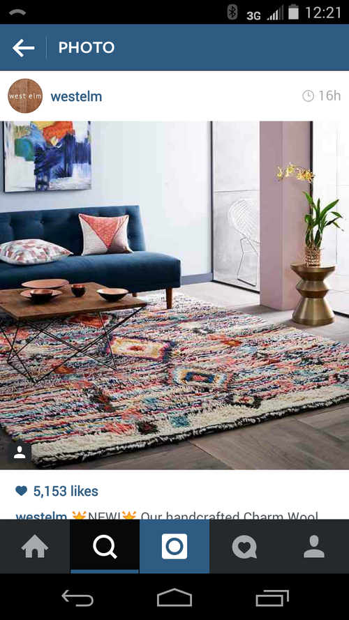 Multi color rug - west elm