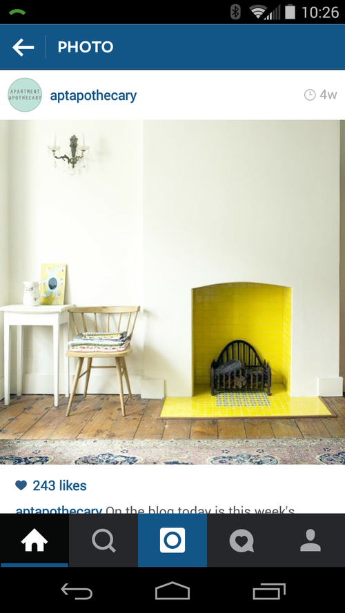 Aptapothecary - yellow fireplace
